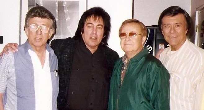 pictured in studio (L to R) Elvis' 2nd recording drummer Buddy Harman, Donny Richmond, Elvis' bass player Bob Moore